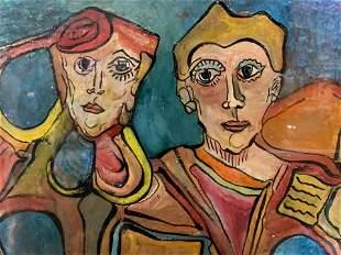 ALEXANDER GORE Signed Oil on Paper Artwork