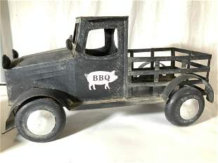 Vintage Metal Toy Farm Truck with Pig Logo
