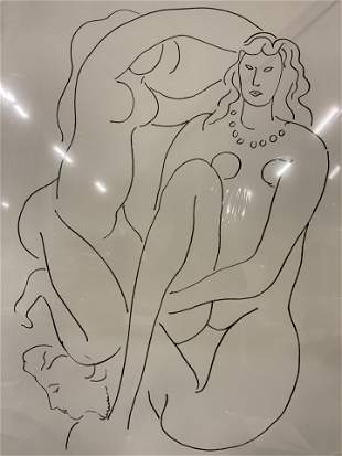 HENRI MATISSE Female Nude Lithograph