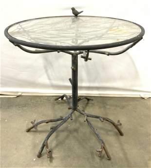 Vintage GIACOMETTI Style Metal Patio Table