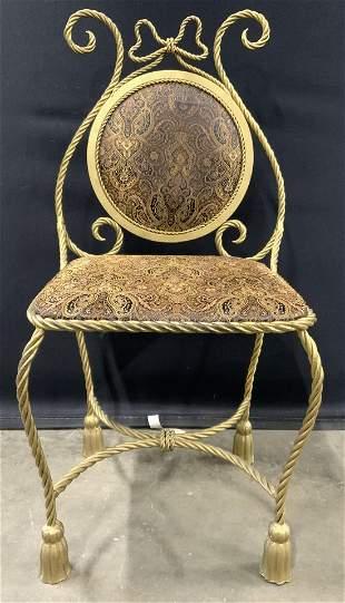 Ornate Rope & Tassel Side Chair