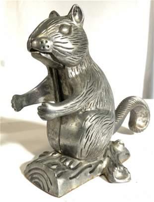 Vintage Metal Squirrel Nutcracker Figure
