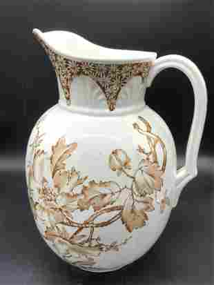 Vintage Signed English Porcelain Pitcher