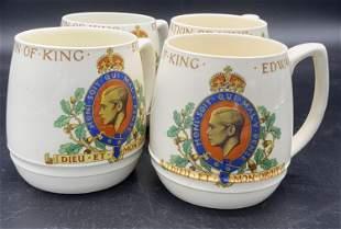 Set 4 Vntg COPELAND SPODE English Porcelain Mugs