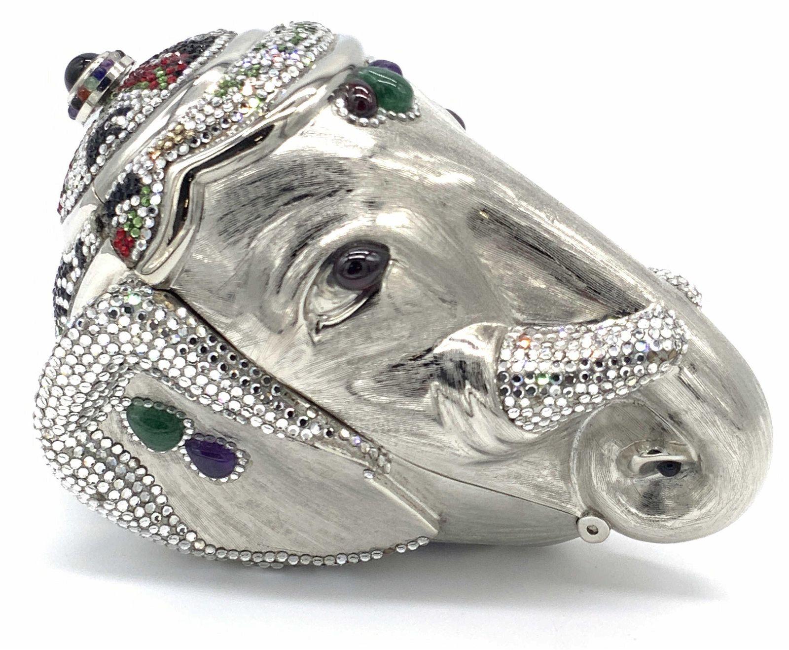 Vtg JUDITH LEIBER Swarovski Crystal Elephant Purse