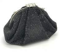 JUDITH LEIBER Enchanted Black Crystal Clutch W Box