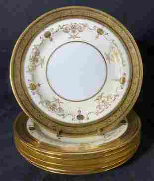Set 6 Vintage MINTONS for TIFFANY & CO Plates