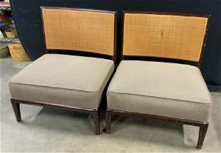 Pair Vintage Low MCM Side Chairs