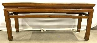 Vintage Chow Foot Carved Wooden Asian Bench
