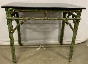 Vintage Hand Painted Wooden Lacquer Table