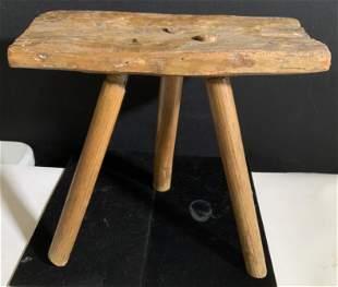 Antique Wood Milking Stool