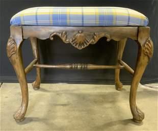 Vintage Upholstered Ottoman