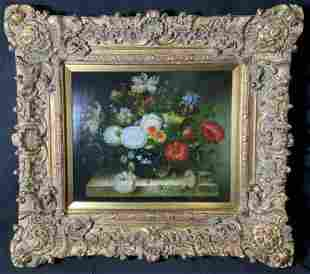 ANGELLA Signed Oil on Canvas Floral Still Life