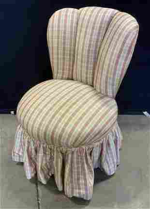 Upholstered Boudoir Slipper Chair