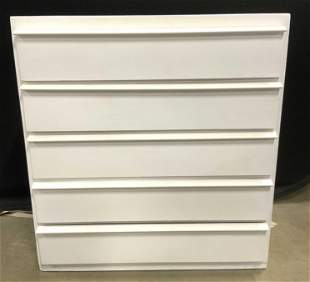 Vintage 5 Drawer White Dresser