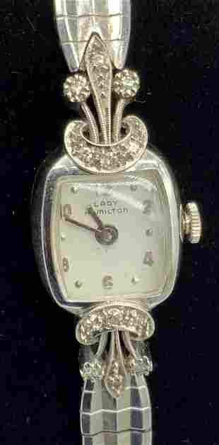 LADY HAMILTON DIAMOND & 14K Gold Ladies Watch