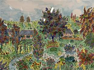 Michel Loeb Signed Ltd Ed Lithograph of Garden