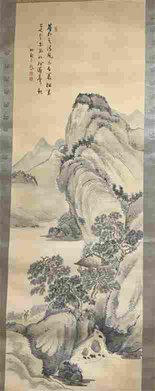Chinese Landscape Ink Painting Scroll Artwork