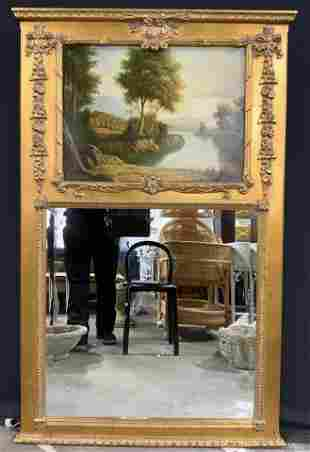 THOMAS HOLLY Signed Painting & Wall Mirror