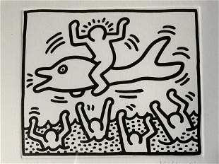 KEITH HARING Signed Ltd Ed Lithograph Artwork