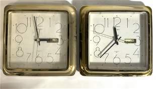 Pair SEIKO Quartz Wall Clocks