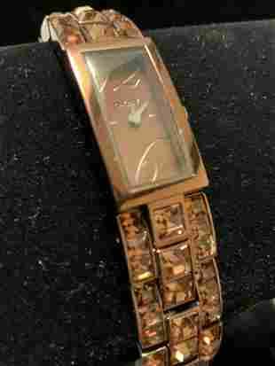 DKNY copper Crystal Designer Bracelet Watch