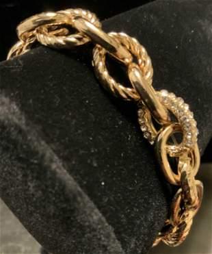 Chunky Gold Tone Link Bracelet
