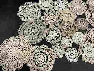 Lot 28 Handmade Vintage Crochet Doilies