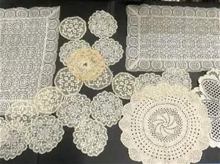 Lot  22 Lace & Crochet Vintage Handmade Doilies