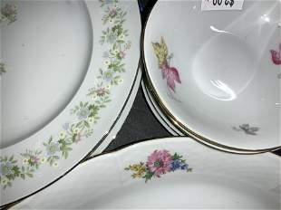Vntg Czechoslovakian & Bavarian China Plates, more