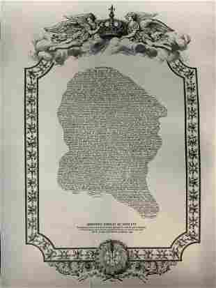 Last Words of Louis XVI Lithograph Artwork