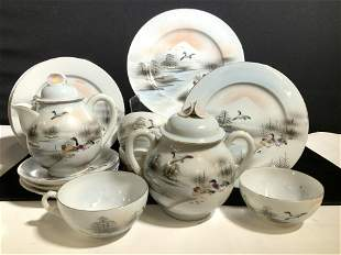 Fine Bone China Tea Set 18, Japan Hand Painted