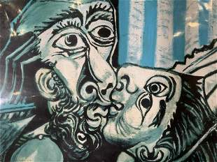 PABLO PICASSO The Kiss Lithograph Artwork