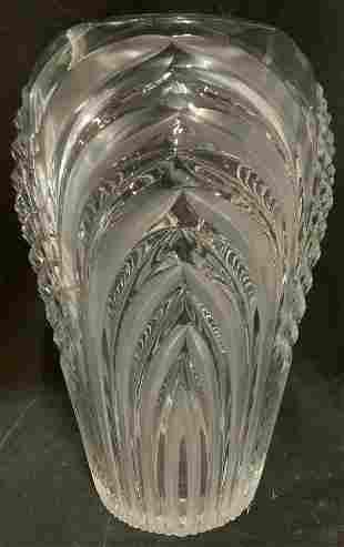 Cut Art Glass Vase Vessel
