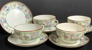 Fine Bone Japanese Porcelain Tea cup set 9
