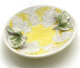 Signed Hand Painted Porcelain Trinket Dish, Italy
