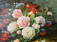 S PAULINE Signed Oil Painting