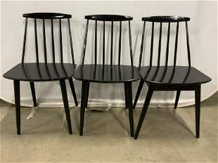 Lot 3 Wooden Side Chairs, Denmark
