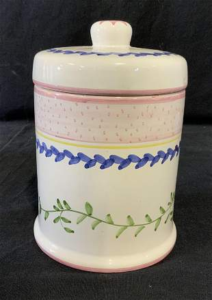 Hand Painted Ceramic Jar, Portugal