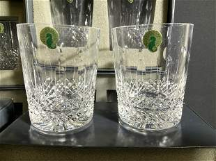 Org Box Never Used Set 12 Waterford Crystal