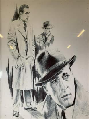 GLEN BANSE Humphrey Bogart Lithograph
