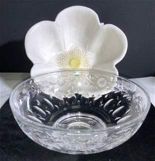 Lot2 Italian Ceramic & STUART Crystal Bowl England