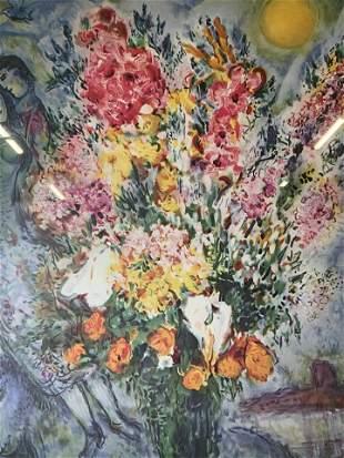 MARC CHAGALL Bouquet Offset Lithograph