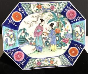 Signed Vintage Hand Painted Ceramic Stoneware