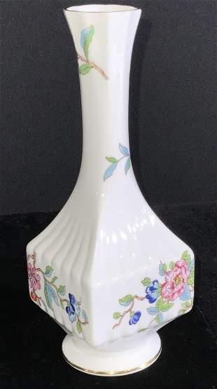 AYNSLEY English Bone China Floral Vase