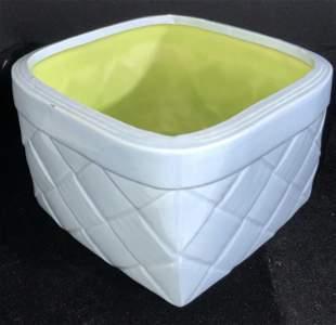 OUI 3 TM Signed Ceramic Basket Form Cache pot