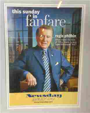 Lithograph Newsday Cover of Regis Philbin