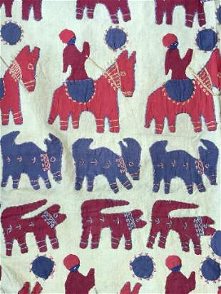 Handmade Cotton Wall Tapestry, Animal Motif