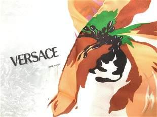 G. VERSACE Hand Rolled Silk Scarf