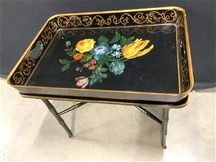 Lacquered Napoleon Asian Fusion Tray Table